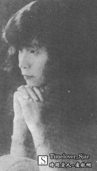 """1926年,张爱玲的母亲黄逸梵在伦敦。(依据""""对照记""""一书内容)"""
